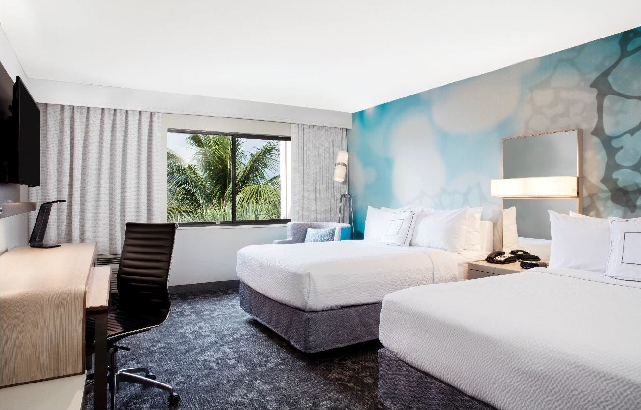 Updated Double Guest Room for Courtyard Marriot Fort Lauderdale Coral Springs