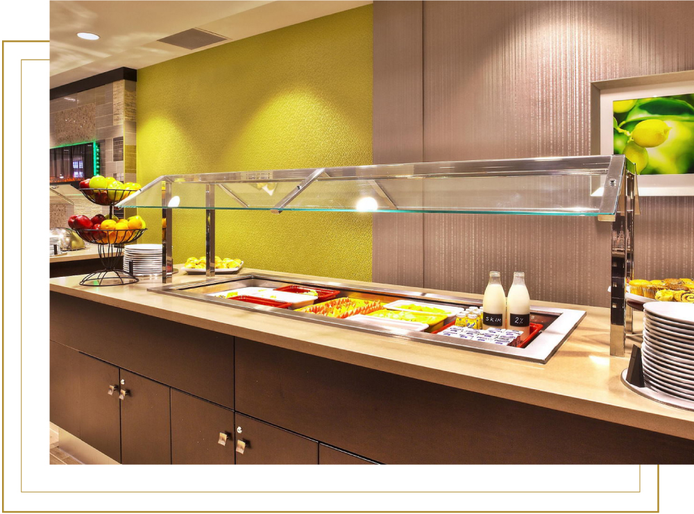Crowne Plaza Kitchener Aqua Restaurant Buffet for Breakfast Lunch and Dinner Buffet