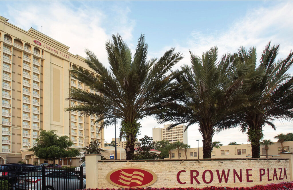 Crowne Plaza Orlando Downtown Exterior with Logo Signage