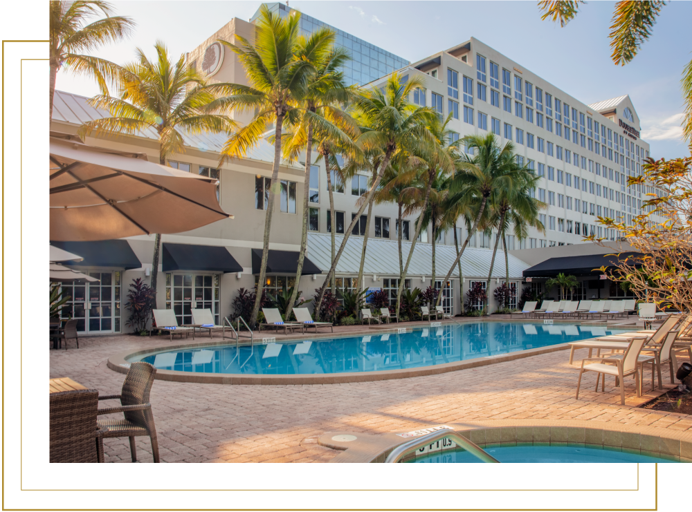 DoubleTree Hilton Deerfield Beach Outdoor Pool with Hot Tub