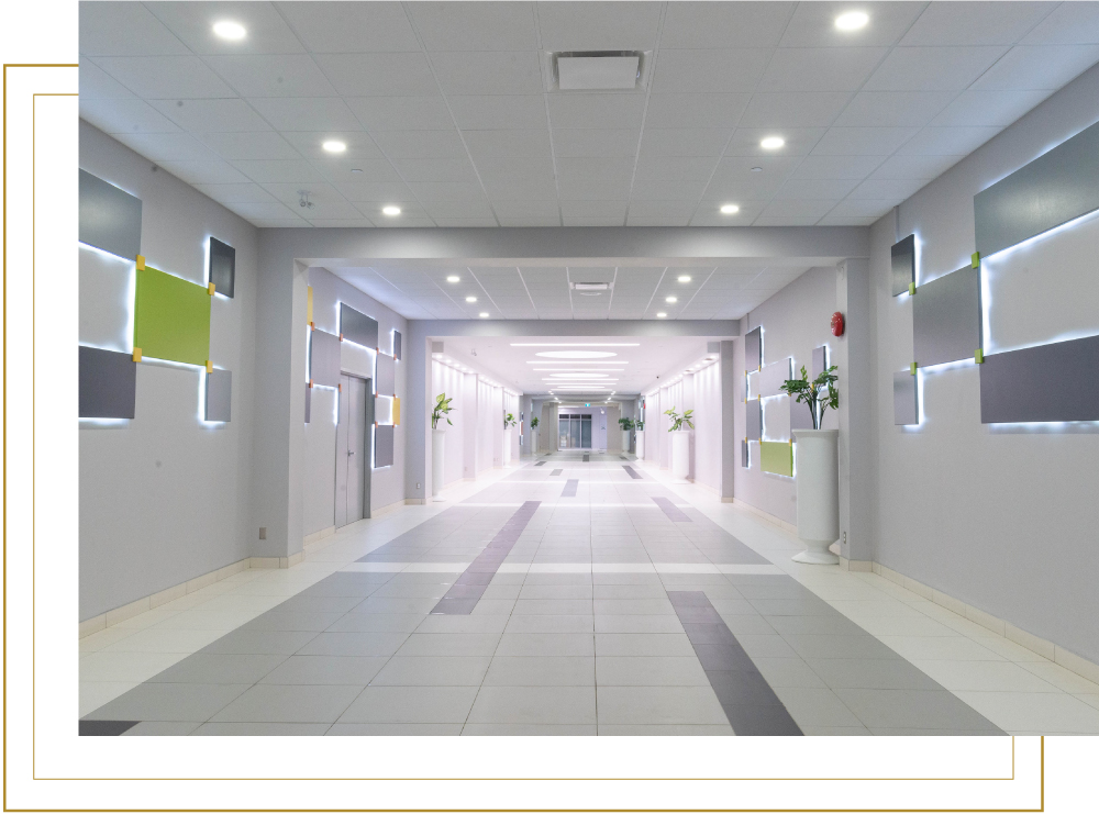 Elm Place Interior Commercial Office Space Corridor