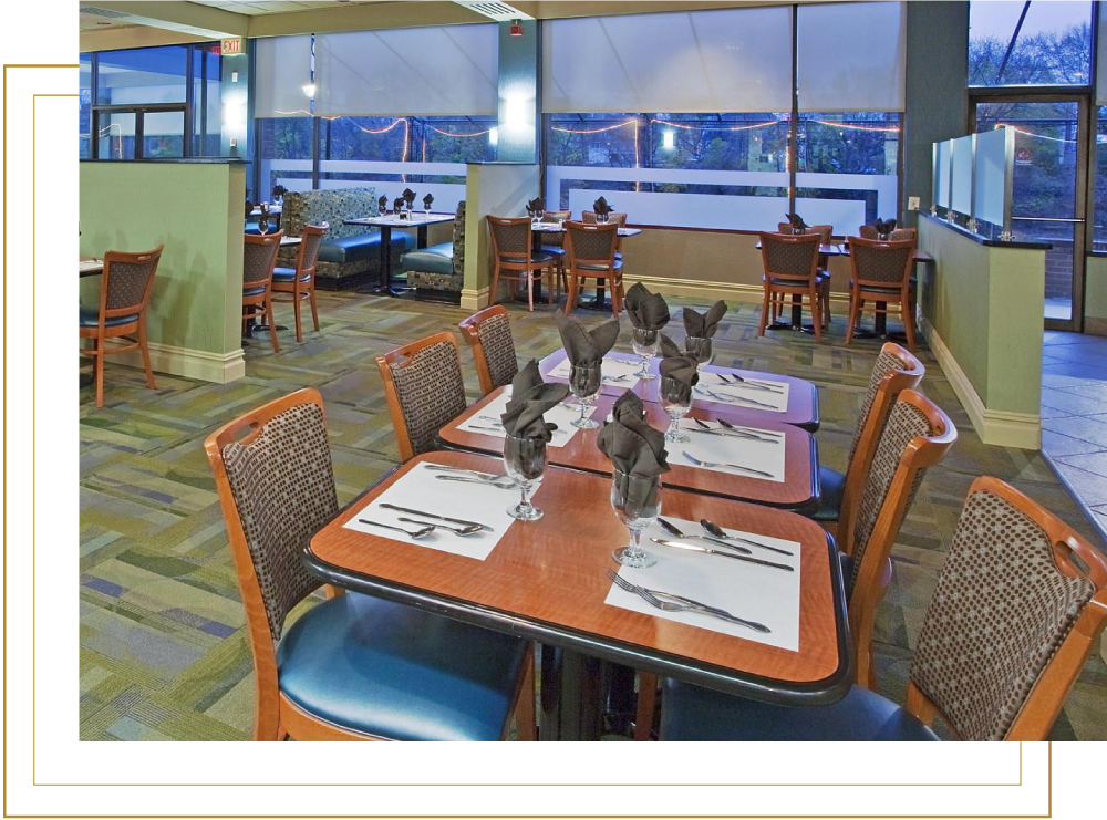Holiday Inn Binghamton Downtown Cafe Select Restaurant with River View
