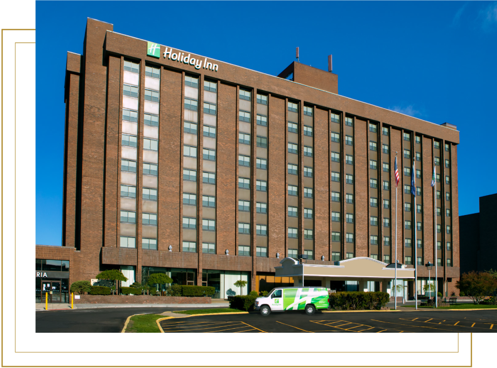 Holiday Inn Binghamton Downtown Daytime View of Front Exterior