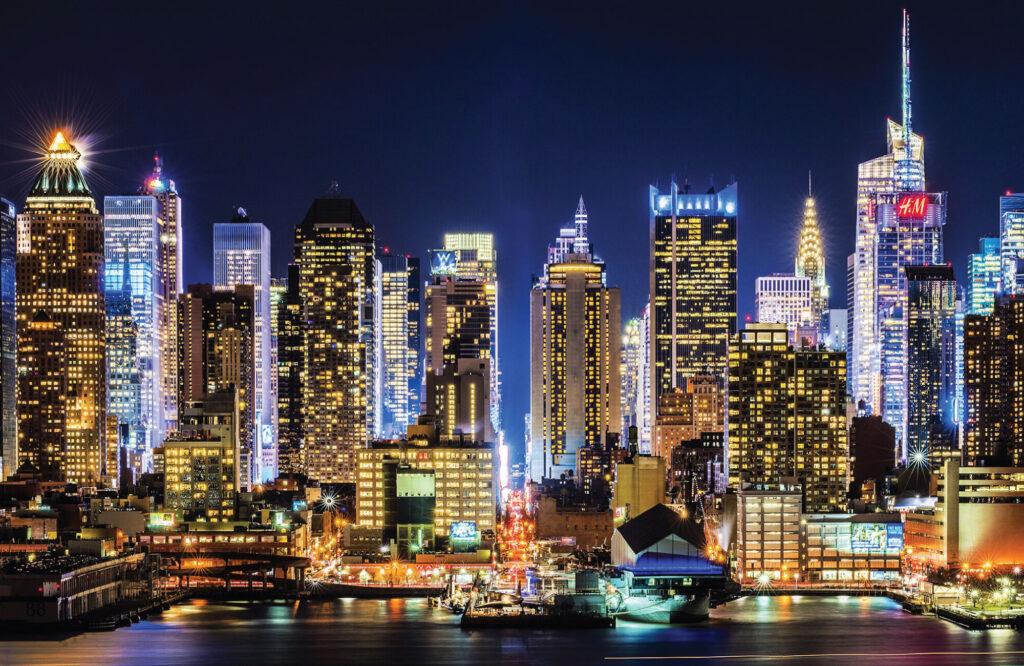 New York 46th Street Cityscape