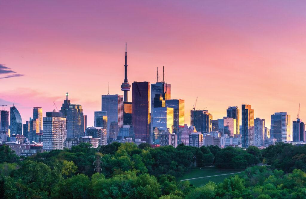 Toronto Cityscape from Riverdale Avenue