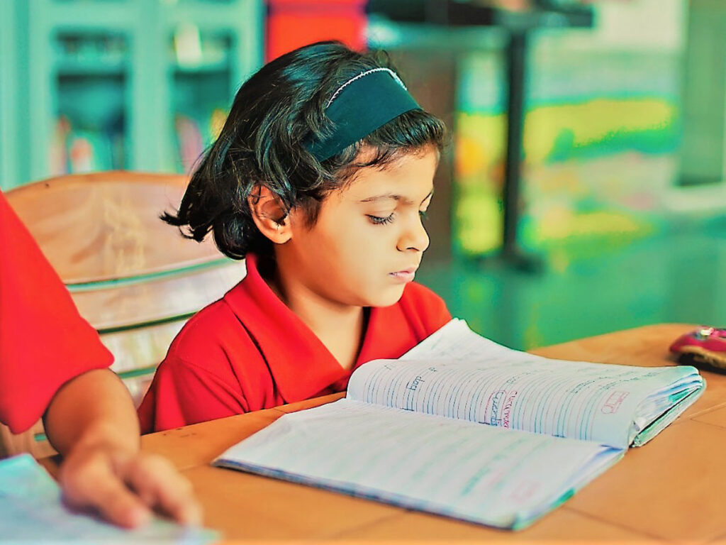 Girl Studying at the REACH Institute by the Visram Foundation