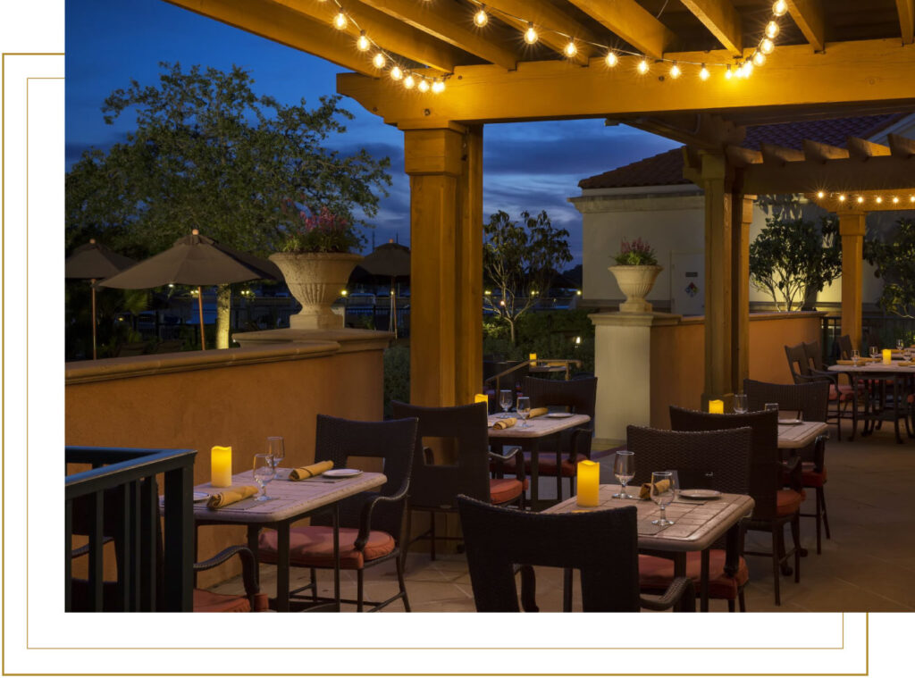 WaterScapes Restaurant Outdoor Setting