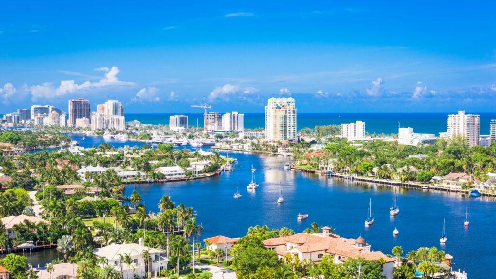 Fort Lauderdale in Florida USA Skyline