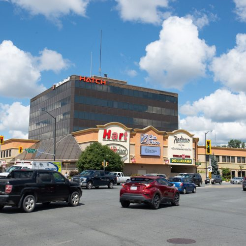 Elm Place Shopping Mall Office Building Focus