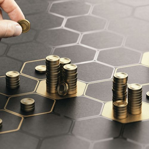 Vista Property Management - Financial Services (Coins on Table)